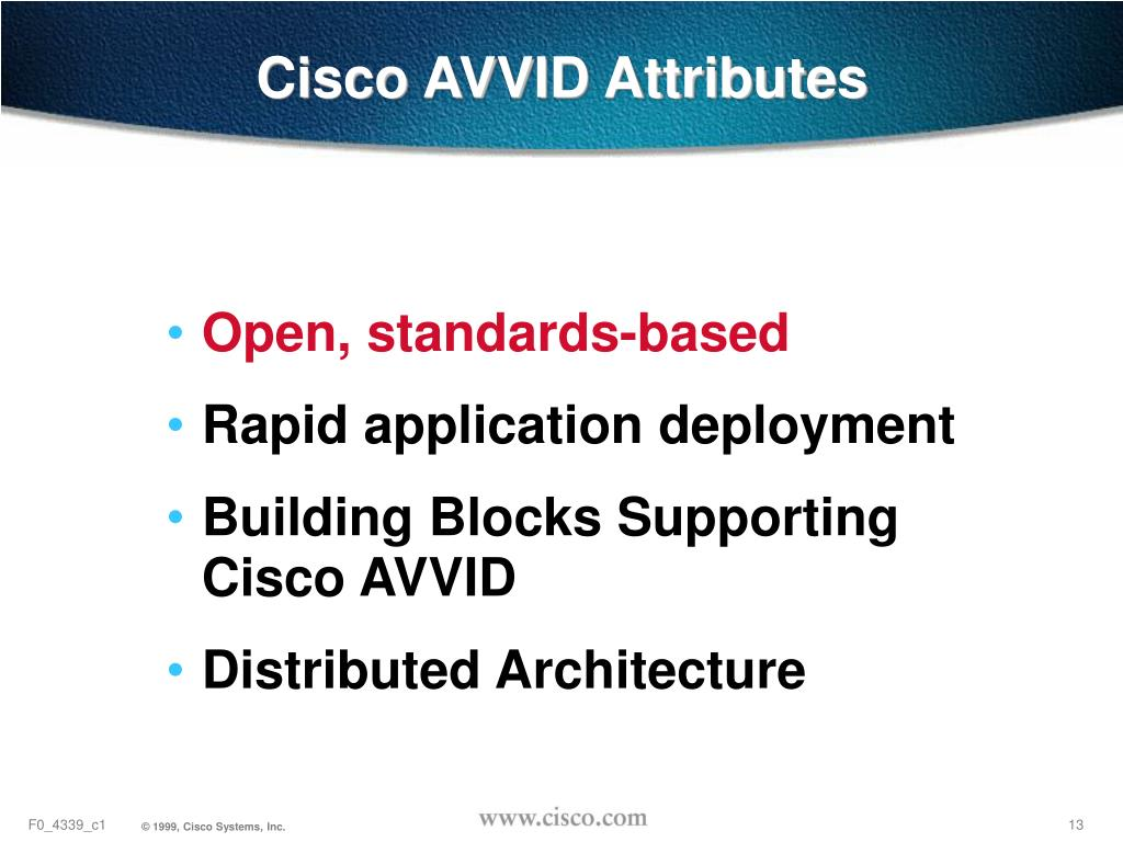 Cisco AVVID Attributes