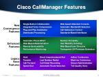 cisco callmanager features