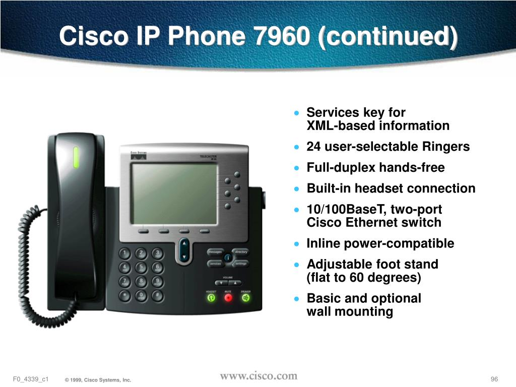 Cisco IP Phone 7960 (continued)