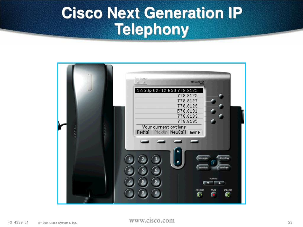 Cisco Next Generation IP Telephony
