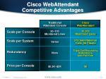 cisco webattendant competitive advantages