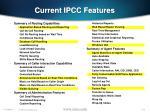 current ipcc features