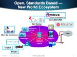 open standards based new world ecosystem