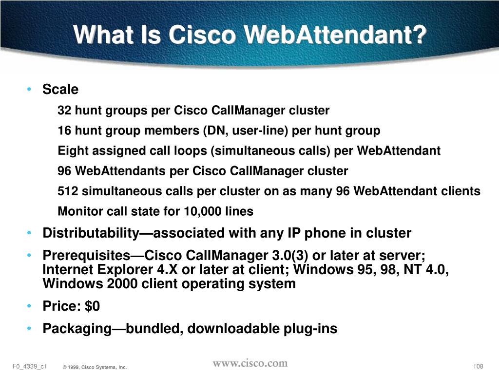 What Is Cisco WebAttendant?