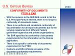 conformity of documents ftsr ear