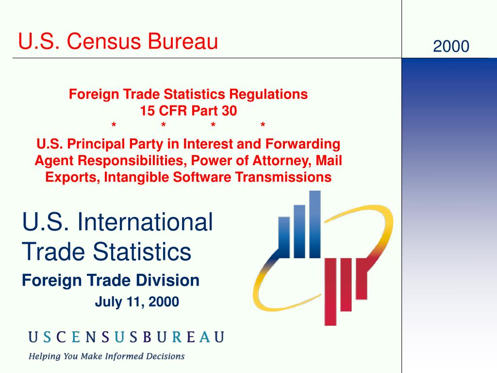 u s international trade statistics foreign trade division july 11 2000 l.