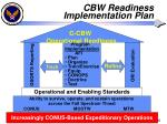 cbw readiness implementation plan