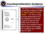 counterproliferation guidance