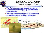 usaf counter cbw readiness vision