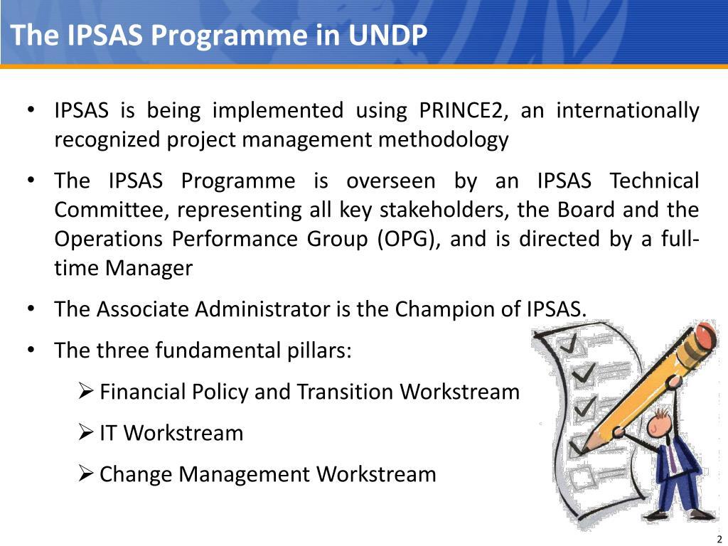 The IPSAS Programme in UNDP