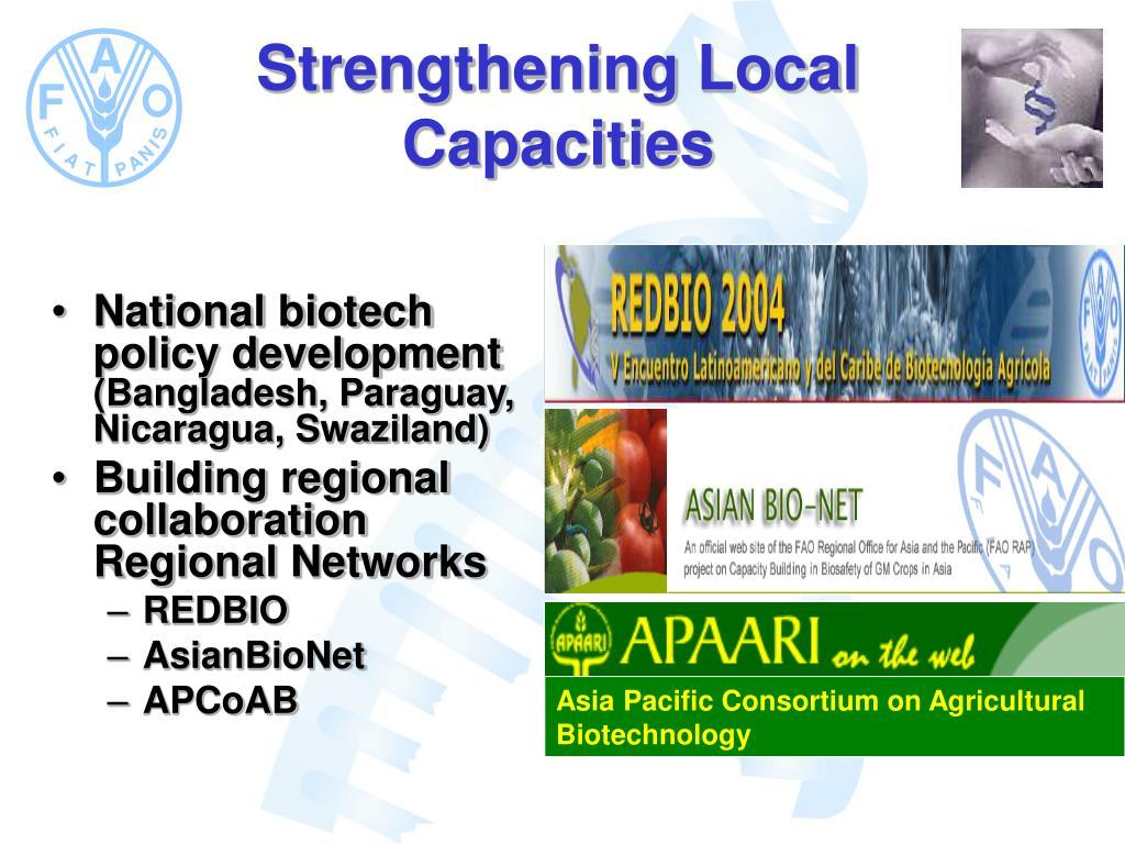 National biotech policy development