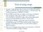 cost of using swaps