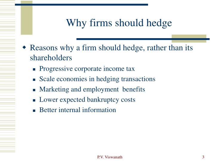 Why firms should hedge