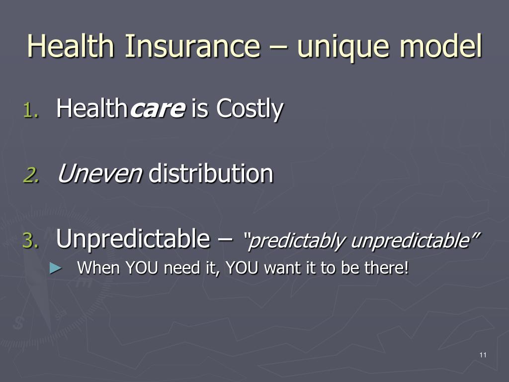 Health Insurance – unique model