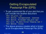 getting encapsulated postscript file eps