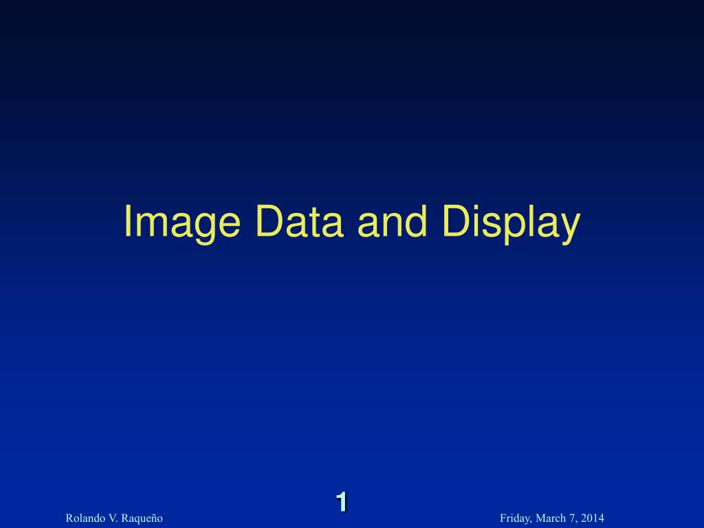 image data and display l.