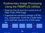 rudimentary image processing using the pbmplus utilities