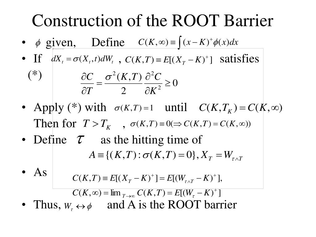 Construction of the ROOT Barrier