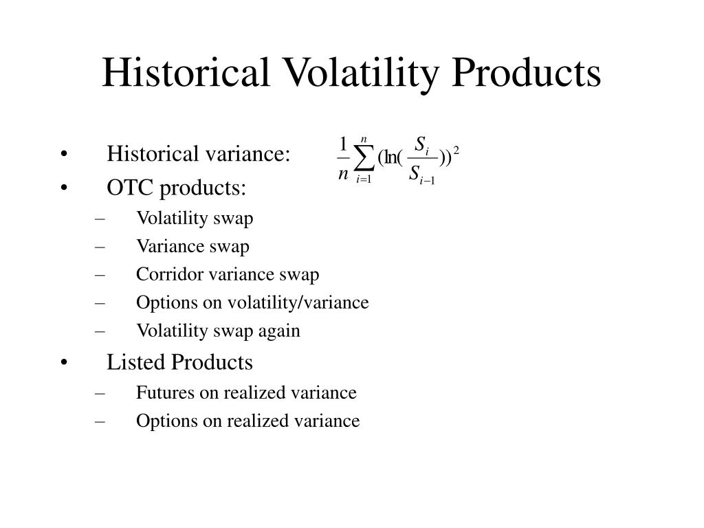 Historical Volatility Products