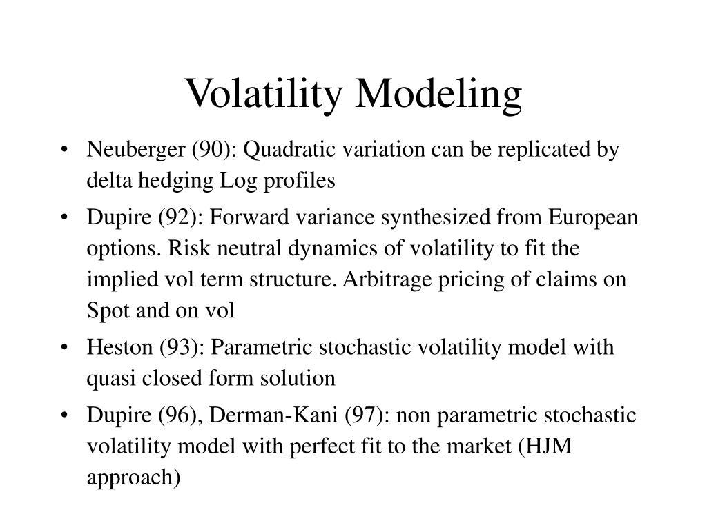 Volatility Modeling