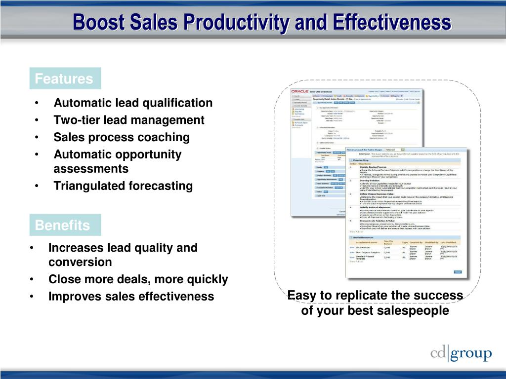 Boost Sales Productivity and Effectiveness