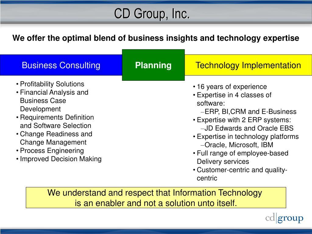 CD Group, Inc.