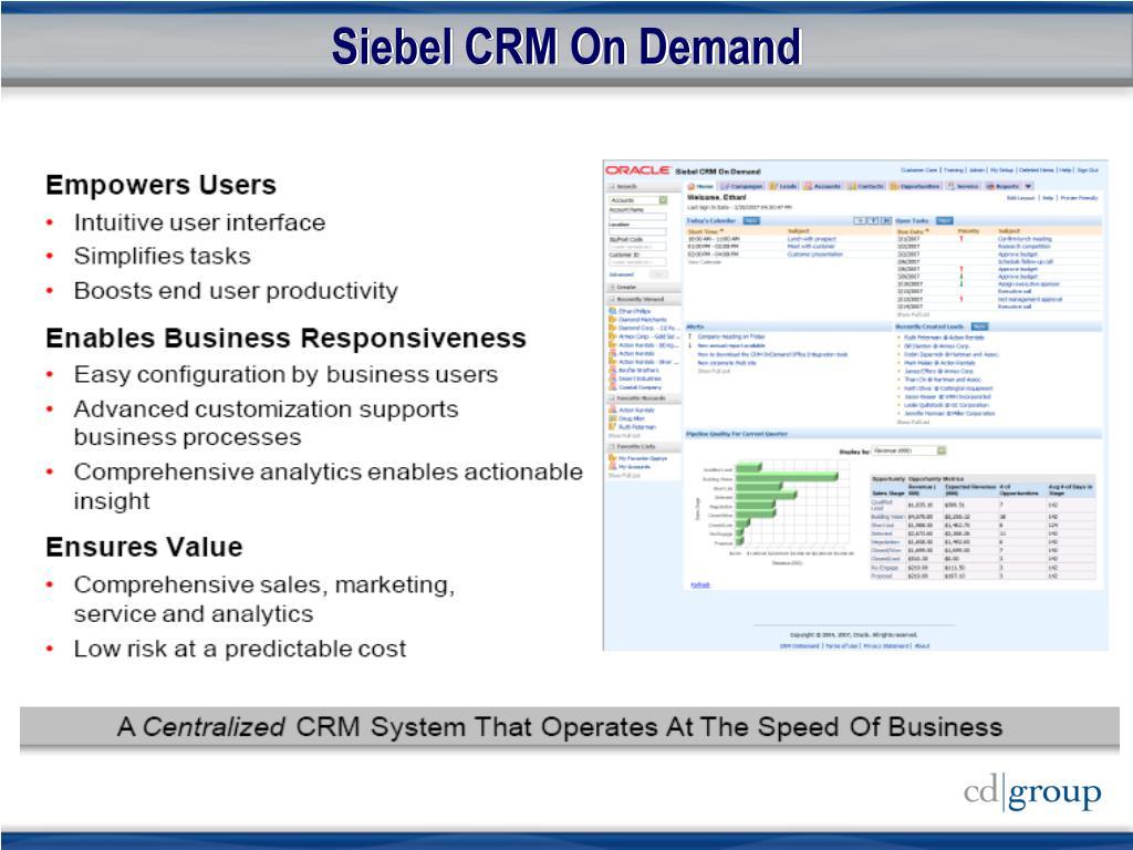 Siebel CRM On Demand