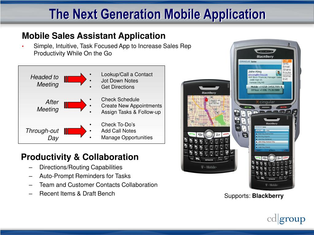 The Next Generation Mobile Application