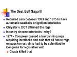 the seat belt saga iii