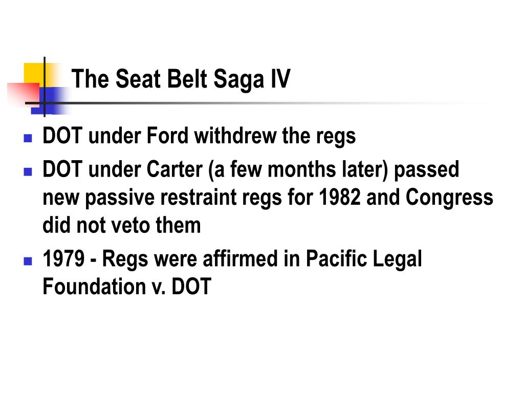 The Seat Belt Saga IV