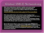 global sms e networking