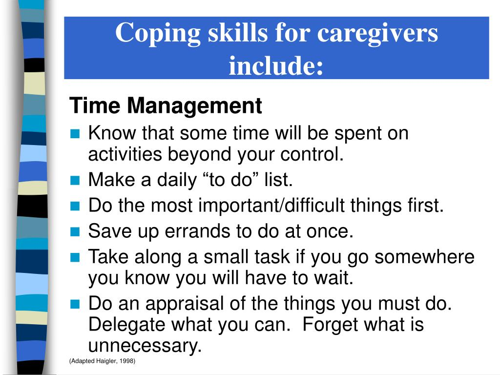 PPT - CAREGIVER STRESS & COPING PowerPoint Presentation ...
