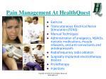 pain management at healthquest