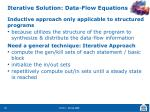 iterative solution data flow equations