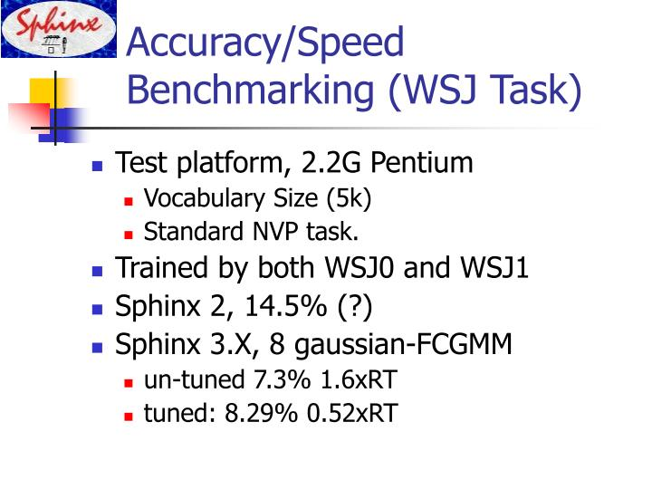Accuracy/Speed