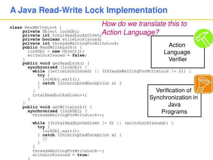 A Java Read-Write Lock Implementation