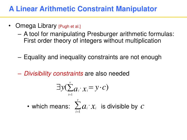 A Linear Arithmetic Constraint Manipulator