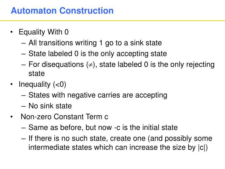 Automaton Construction