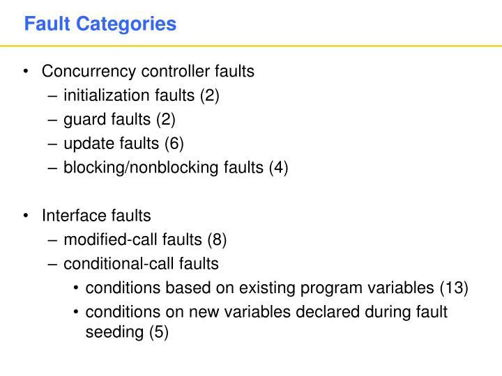 Fault Categories