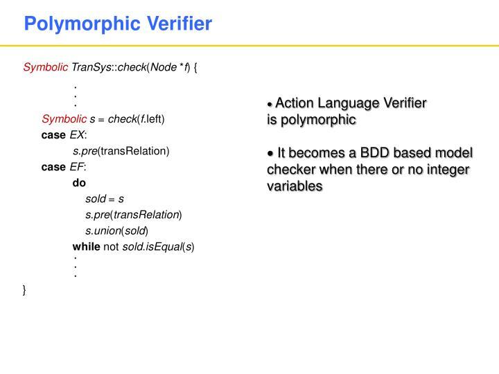 Polymorphic Verifier