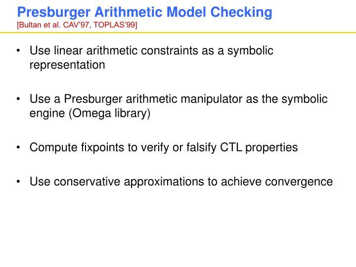 Presburger Arithmetic Model Checking