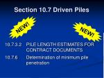 section 10 7 driven piles29