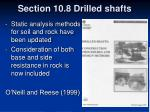 section 10 8 drilled shafts31
