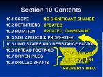 section 10 contents