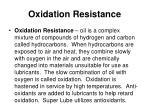 oxidation resistance