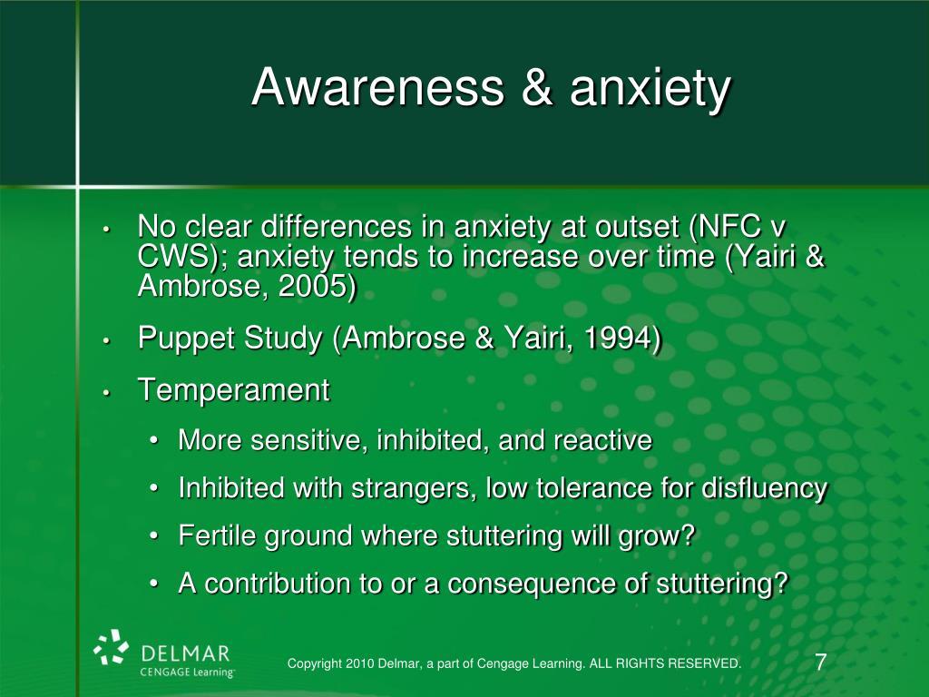 Awareness & anxiety