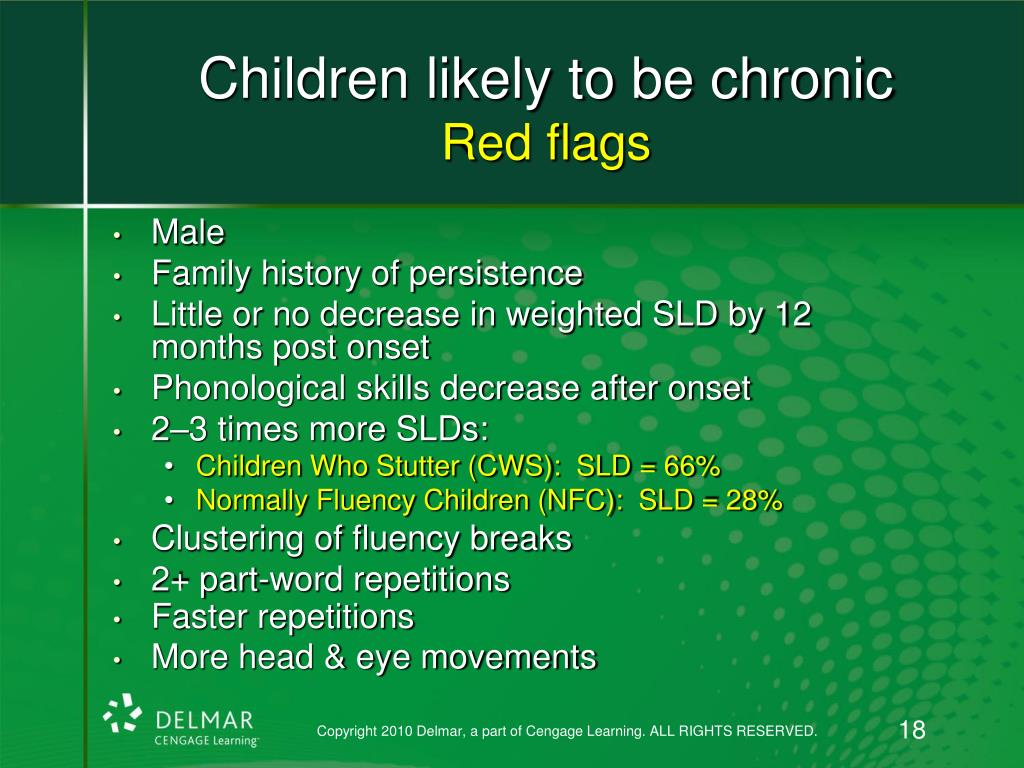 Children likely to be chronic