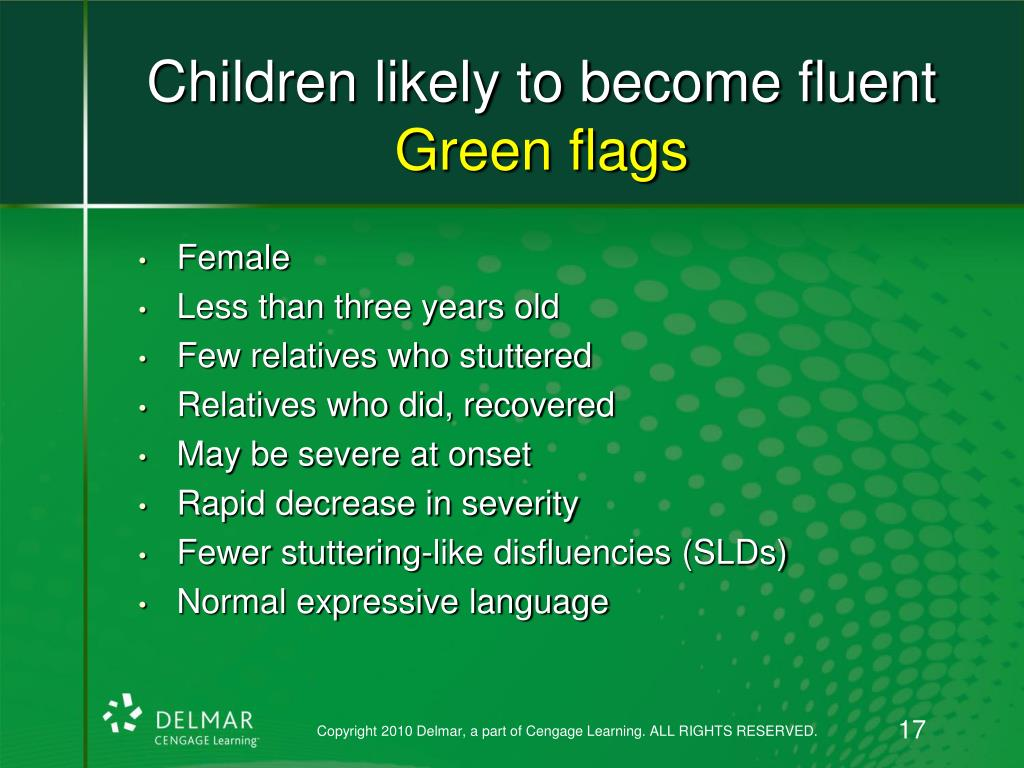 Children likely to become fluent