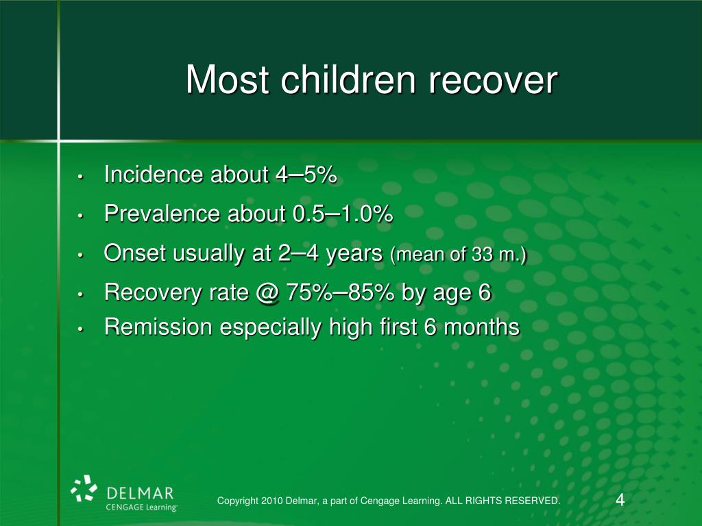 Most children recover