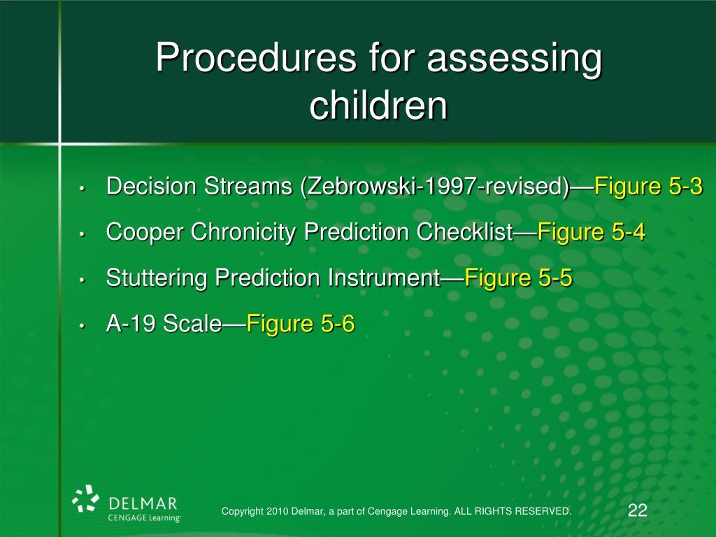Procedures for assessing children